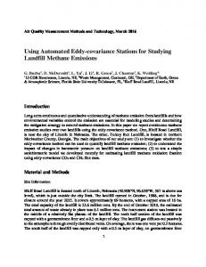 Using Automated Eddy-covariance Stations for ...