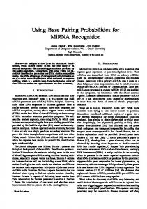 Using Base Pairing Probabilities for MiRNA Recognition