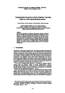 Using Bayesian Networks to Detect Students' Learning ... - CiteSeerX