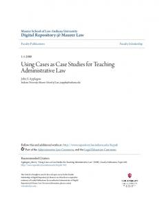 Using Cases as Case Studies for Teaching ...