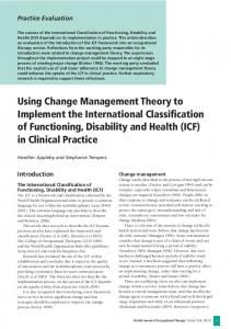 Using Change Management Theory to Implement the ... - CiteSeerX