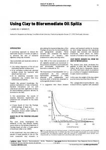 Using Clay to Bioremediate Oil Spills