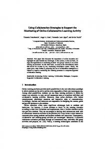 Using Collaboration Strategies to Support the Monitoring of Online ...
