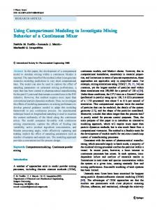Using Compartment Modeling to Investigate Mixing ... - CiteSeerX