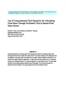 Using Computational Fluid Dynamics for Calculating Flow Rates ...