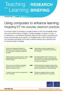 Using computers to enhance learning