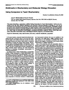 Using computers to teach biochemistry - Wiley Online Library
