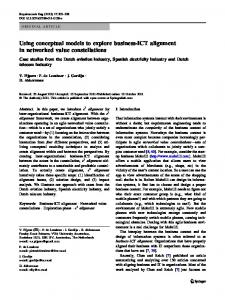Using conceptual models to explore business-ICT ... - Springer Link