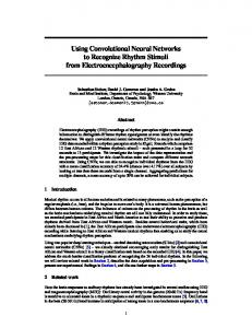 Using Convolutional Neural Networks to