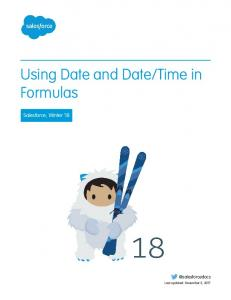 Using Date and Date/Time in Formulas - Salesforce.com Help Portal