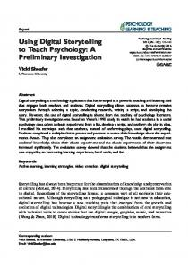 Using Digital Storytelling to Teach Psychology: A ... - SAGE Journals