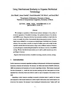 Using Distributional Similarity to Organise ... - University of Sussex