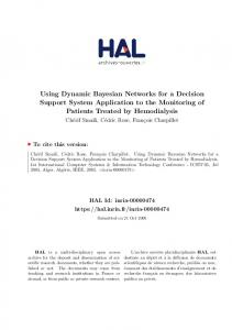 Using Dynamic Bayesian Networks for a Decision Support ... - HAL-Inria