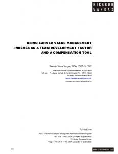 using earned value management indexes as a team