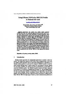 Using Efficient TRNGs for PSEUDO Profile in National eID Card