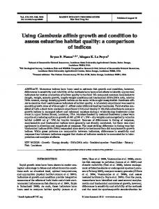 Using Gambusia affinis growth and condition to assess estuarine ...