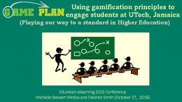 Using gamification principles to engage students at