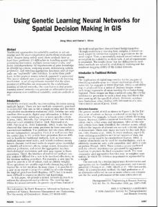Using genetic learning neural networks for spatial ... - Semantic Scholar