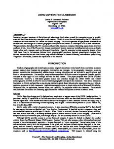 USING GloViS IN THE CLASSROOM ABSTRACT ... - asprs