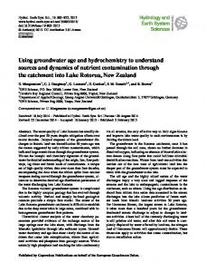 Using groundwater age and hydrochemistry to understand ... - HESS