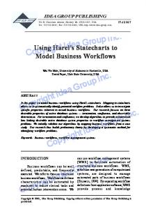 Using Harel's Statecharts to Model Business Workflows