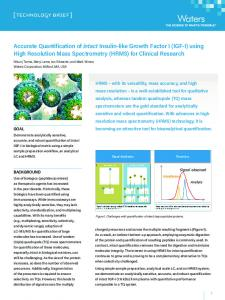using High Resolution Mass Spectrometry (HRMS)