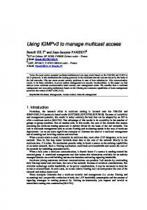 Using IGMPv3 to manage multicast access