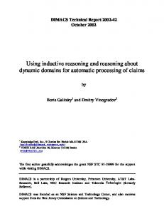 Using inductive reasoning and reasoning about ... - Semantic Scholar