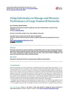 Using Informatics to Manage and Measure Performance of Large ...