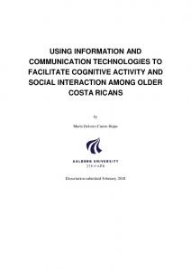 using information and communication technologies to