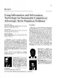 Using Information and Information Technology for ... - Semantic Scholar