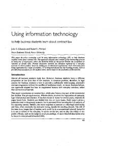 Using information technology - SFU.ca