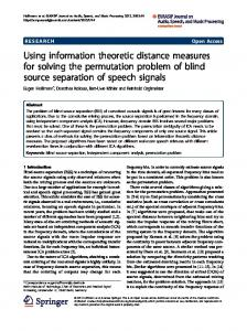 Using information theoretic distance measures for