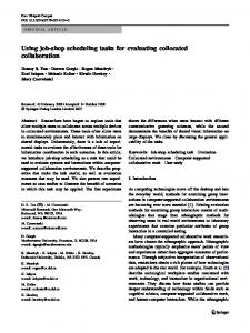 Using job-shop scheduling tasks for evaluating collocated ... - CiteSeerX