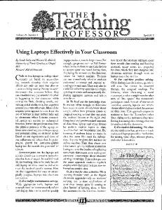 Using Laptops Effectively in Your Classroom