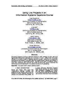 Using Live Projects in an Information Systems Capstone Course