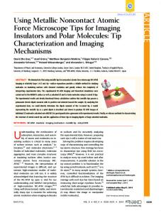 Using Metallic Noncontact Atomic Force Microscope Tips for Imaging ...