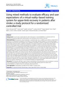 Using mixed methods to evaluate efficacy and user ... - Semantic Scholar