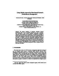 Using Mobile Agents for Distributed Network ... - Semantic Scholar