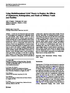 Using Multidimensional Grief Theory to Explore the ... - Springer Link