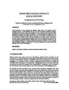 using mutation in fault localization - AIRCC