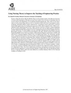 Using Nursing Theory to Improve the Teaching of ... - Asee peer