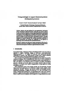 Using ontologies to support decentral product ... - Semantic Scholar