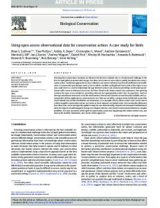 Using open access observational data for ... - Andrea Wiggins