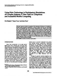 Using Palm Technology in Participatory ... - Semantic Scholar