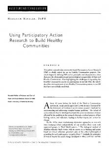 Using Participatory Action Research to Build Healthy - Europe PMC