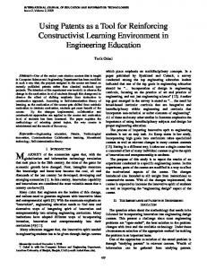 Using Patents as a Tool for Reinforcing Constructivist Learning