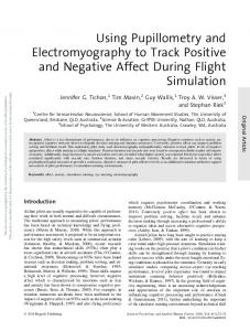 Using Pupillometry and Electromyography to Track ...