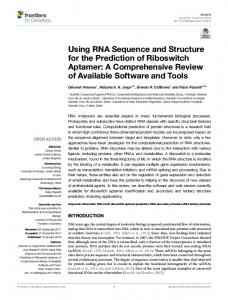 Using RNA Sequence and Structure for the