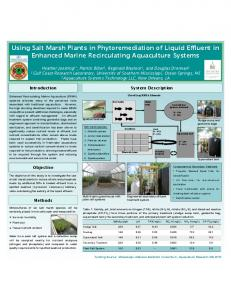 Using Salt Marsh Plants in Phytoremediation of Liquid Effluent in ...
